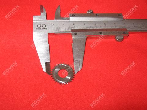 Φ20 x Φ8 x 1.5mm - Solid carbide micro slitting saw cutters, precision mini milling saw blades