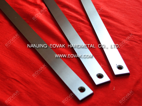 Solid carbide straight knives, straight blades with 2 Counterbores